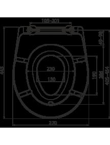 Alcaplast A606 duroplast WC ülőke Soft close lecsapódás gátlóval és gyermekbetéttel