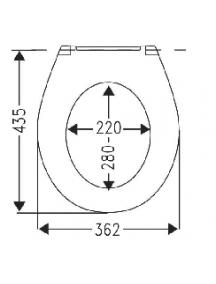 Alföldi Saval 2.0 WC ülőke, állítható magasságú, antibakteriális, fehér 8780 95 01