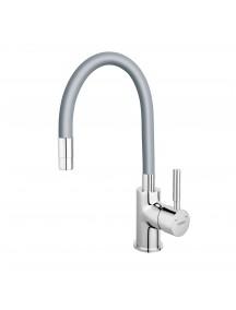 Ferro Zumba egykaros mosogató csaptelep elasztikus ezüst kifolyócsővel BZA4S