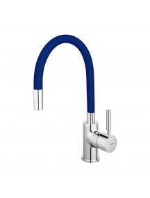 Ferro Zumba egykaros mosogató csaptelep elasztikus kék kifolyócsővel BZA4L