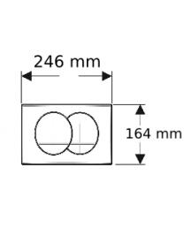 Geberit Delta 20 működtető nyomólap Delta 12cm (UP100) WC tartályokhoz fehér színben 115.100.11.1
