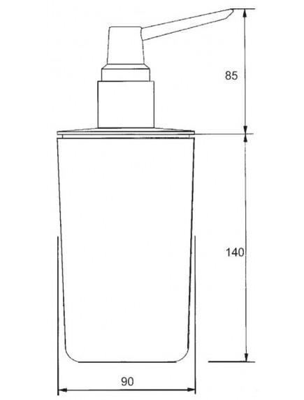 Mc Alpine HC fali szappanadagoló, műanyag, króm nyomófej