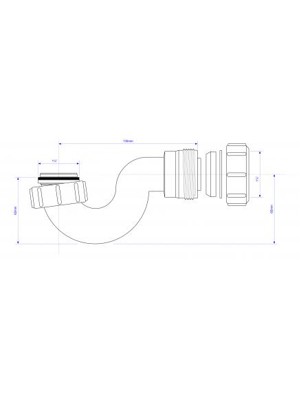 Mc Alpine HC csőszifon zuhanytálcához 5/4-32mm
