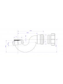 Mc Alpine HC csőszifon zuhanytálcához leeresztő nélkül 6/4-40mm