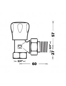 """Herz GP sarok radiátorszelep 3/4"""" BM 1 5524 22"""