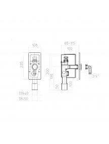 HL falsík mögötti mosógépszifon légbeszívóval HL404.1