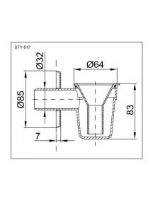 Styron bojler cseppszifon száraz bűzzárral - STY-517