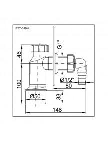 Styron falba épített szifon STY-510-K