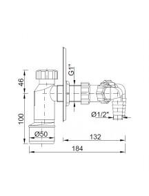 Styron falba épített szifon 2 csonkkal STY-510-KY