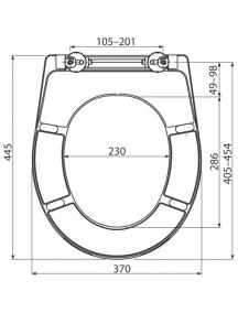 Alcaplast A604 duroplast WC ülőke Soft close lecsapódás gátlóval