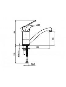 Mofém Junior Evo bojler mosdó csaptelep, alsó bekötésű, nyílt rendszerű bojlerekhez