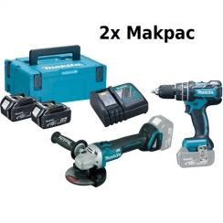 18V LI-ION BL KÉSZLET, 2x MACPAC,  DHP480 DGA504 2X5