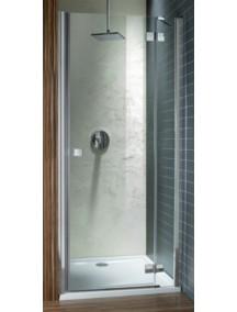 Radaway Almatea DWJ 100 B balos zuhanyajtó, átlátszó üveggel 31202-01-01N