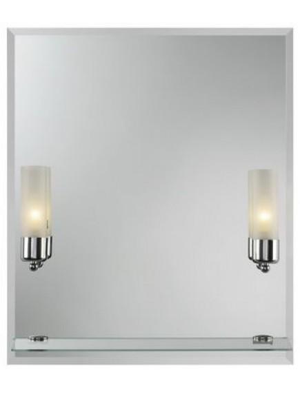 HB DV. Cento II tükör hagyományos, izzós világítással, üvegpolccal