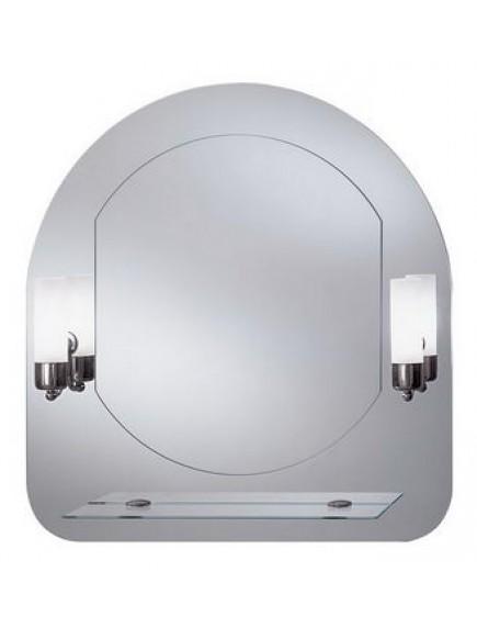 HB DV. Gaja tükör hagyományos, izzós világítással, üvegpolccal