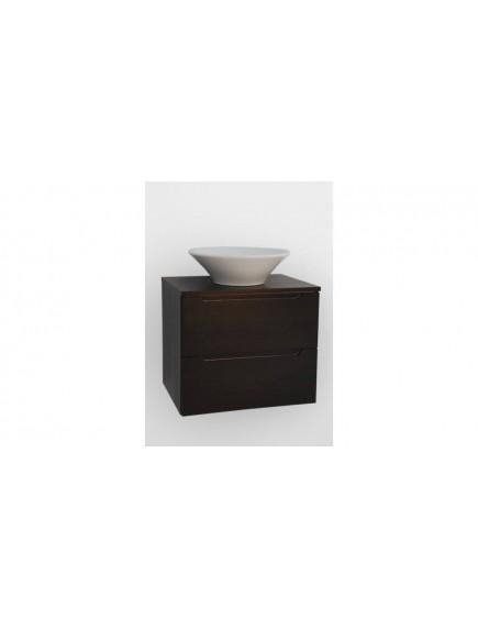 HB ELIT PLUS 60 két fiókos mosdós fürdőszobai szekrény, sötét dió