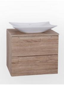 HB ELIT PLUS 60 két fiókos mosdós fürdőszobai szekrény, sonoma