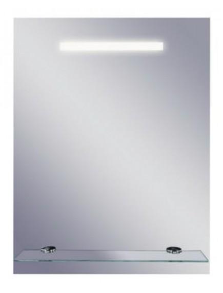 HB DV. Linea II tükör fluoreszkáló világítással, üvegpolccal