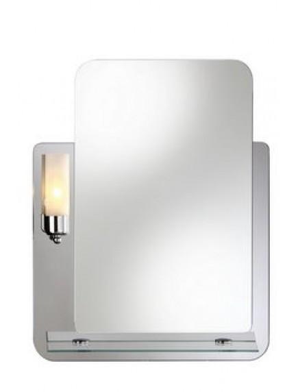 HB DV. Lucas tükör hagyományos, izzós világítással, üvegpolccal