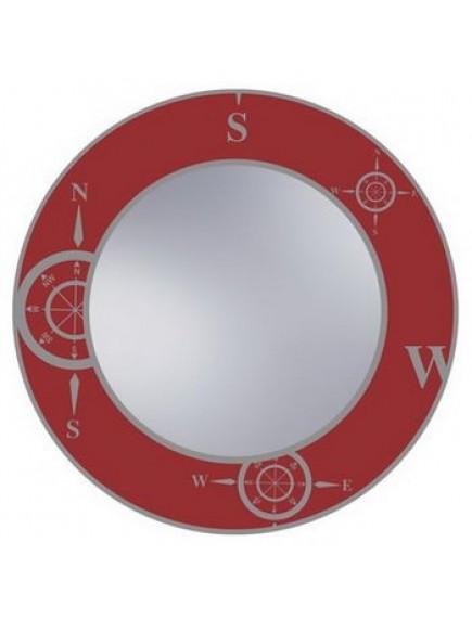 HB DV. N7 R mintás tükör, vörös