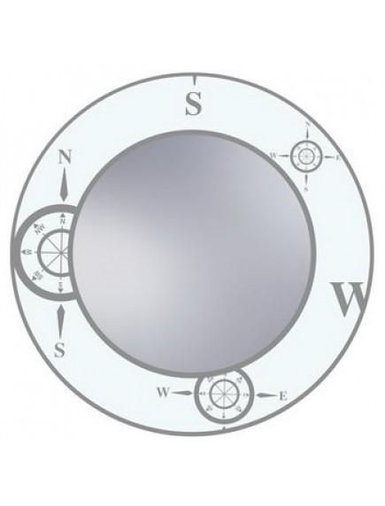 HB DV. N7 W mintás tükör, fehér