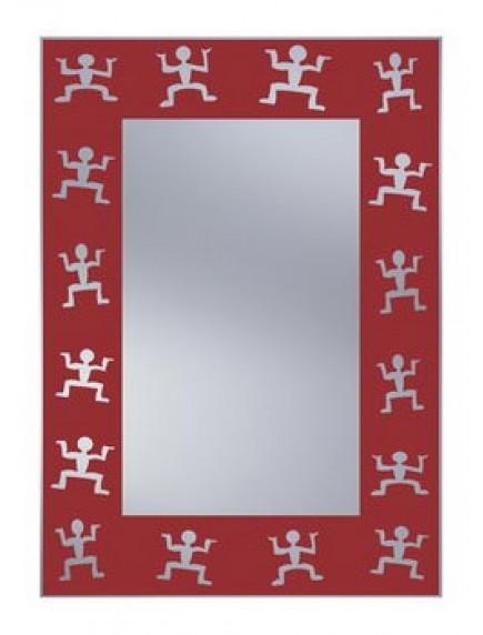 HB DV. N9 R mintás tükör 51x71 vörös