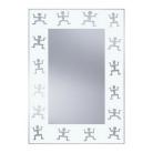 HB DV. N9 W mintás tükör 51x71 fehé ...