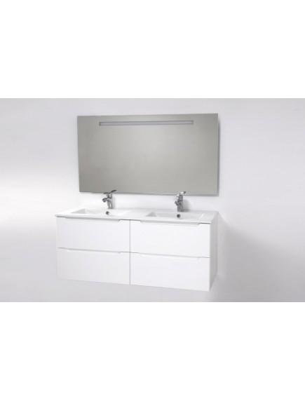 HB ELIT Négyfiókos, dupla mosdós szekrény - Fehér