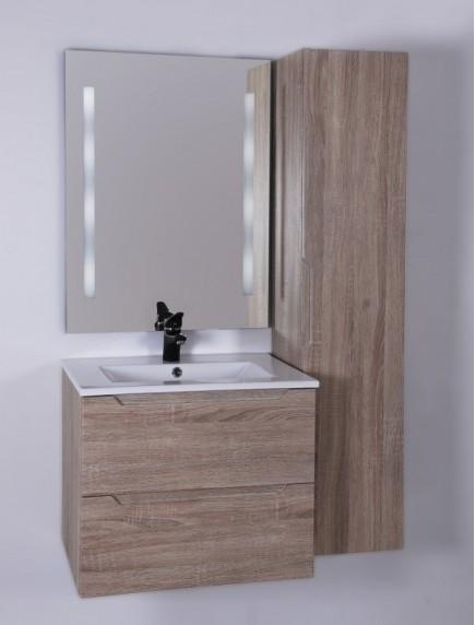 HB ELIT két fiókos fürdőszobabútor mosdóval SONOMA 60CM