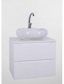 HB ELIT PLUS 60 két fiókos mosdós fürdőszobai szekrény,fehér