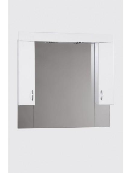 HB Standard SC100SZ/PAN fürdőszobai tükör polcos kis szekrénnyel, konnektorral