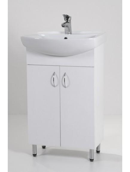 HB Light 55 mosdós fürdőszoba szekrény mosdóval