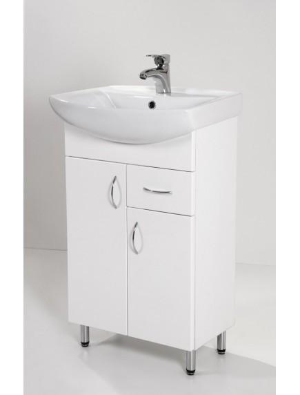 HB Standard SA55F két ajtós egy fiókos, mosdós fürdőszoba szekrény