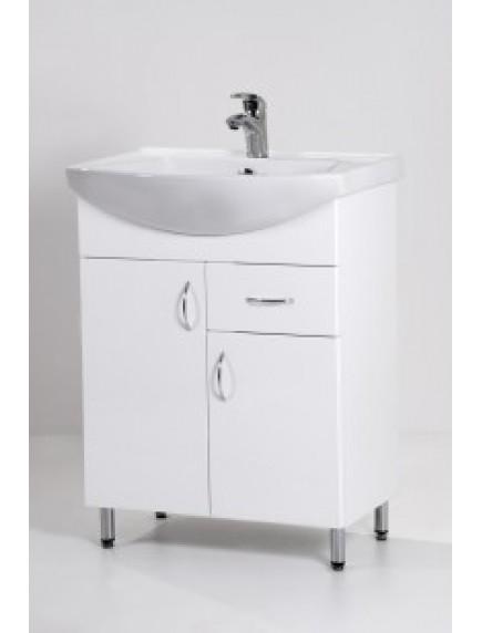 HB Standard SA65F két ajtós egy fiókos, mosdós fürdőszoba szekrény