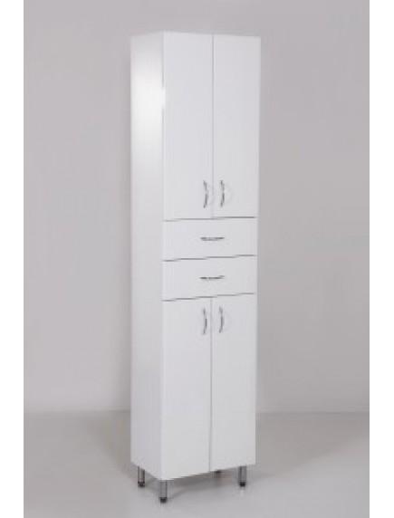 HB Standard SB45F álló, négy ajtós egy fiókos fürdőszoba szekrény
