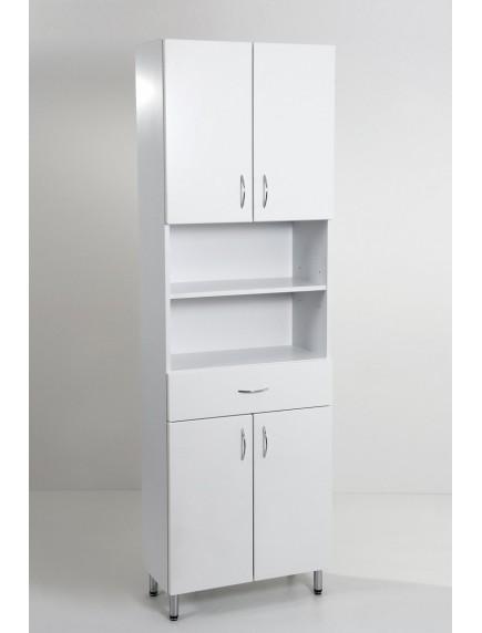 HB Standard SB60F álló, négy ajtós egy fiókos fürdőszoba szekrény