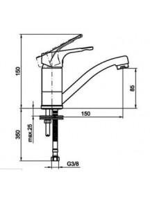 Mofém Junior EVO mosdó csaptelep forgatható kifolyócsővel