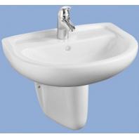 Alföldi Bázis mosdó 55x45cm, furat és túlfolyó nélkül,fehér 4191 58 01