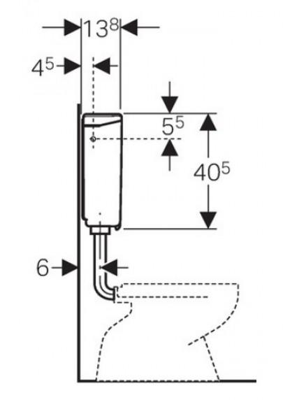 Geberit WC tartály AP140 alacsonyra szerelhető, falon kívüli, (2 mennyiséges) bahama bézs