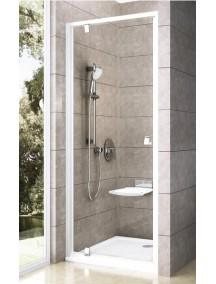 RAVAK Pivot PDOP1-90 zuhanyajtó, fehér szegély + transparent üveg