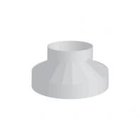 Aereco AEA 809 Ventilátor csatlakozó, fém O125 mm/100 mm, L=100 mm