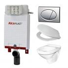 Alcaplast A100 WC szett - falba épí ...
