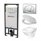 Alcaplast A101 WC szett - falba épí ...