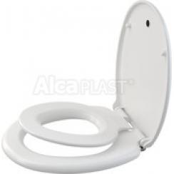Alcaplast A606 lassú leeresztésű WC ülőke Softclose – levehető gyermek betéttel, fehér