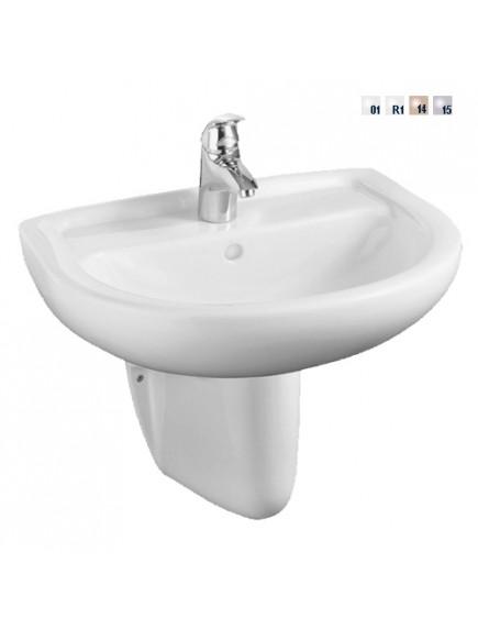Alföldi Bázis mosdó 60x49cm, 1 furattal középen, fehér 4191 60 01