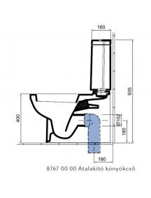 Alföldi Liner átalakító könyökcső, mélyöblítésű monoblokk WC alsó kifolyásúvá alakításához 8767 00 00