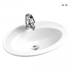 Alföldi Bázis beépíthető mosdó, 54x42 cm, 1 furattal középen, fehér 4171 54 01