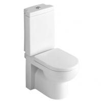 Alföldi Liner mélyöblítésű monoblokk WC csésze, hátsó kifolyású, rejtett rögzítéssel, rögzítőkészlettel, Easyplus bevonat 6639 L1 R1