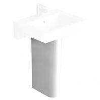 Alföldi Liner szifontakaró mosdóhoz, rejtett rögzítés, rögzítőkészlettel, fehér 7228 L1 01