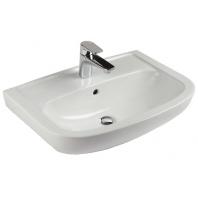 Alföldi Saval 2.0 beépíthető mosdó 60x42 cm, 1 furattal középen, Easyplus bevonat, fehér